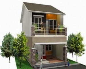 Desain Rumah Minimalis Modern 2 Lantai Type 45