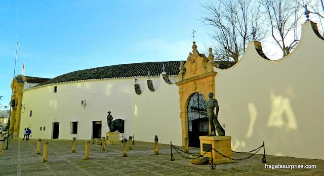 Estátua do toureiro Pedro Romero, na Arena de Touros de Ronda, Andaluzia