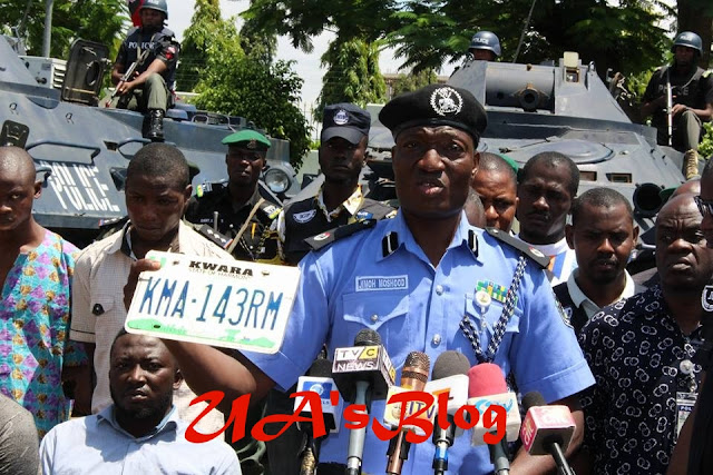 Offa Robbery: The Car Plate Number Used By The Robbers Boldly Written 'SARAKI' (Photos)