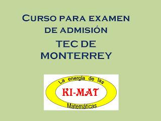 """Imagen que dice """"Cursos para examen de admisión Tec Guadalajara"""""""