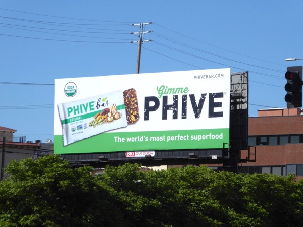 Phive Bar food billboard