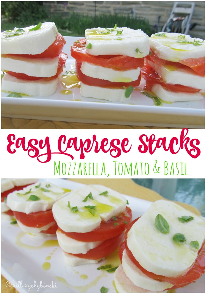 An easy and quick summer recipe. Perfect for a quick dinner or a pretty appetizer.