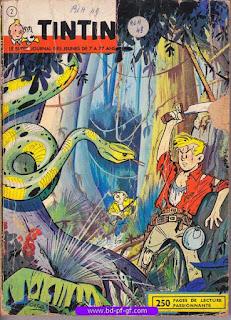 Tintin recueil souple, numéro 2, année 1961, à restaurer