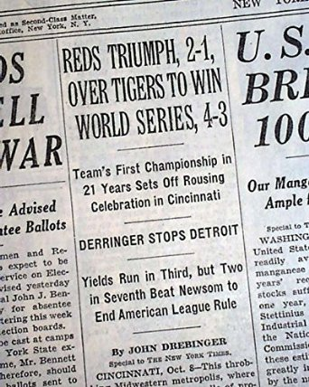 9 October 1940 worldwartwo.filminspector.com World Series Cincinatti Reds