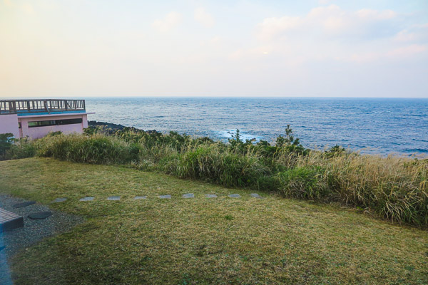 View from the annex,  Hotel Lido Azzurro, Hachijo Island, Tokyo, Japan.