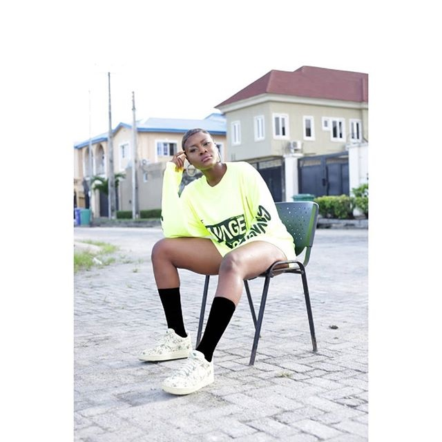 Alex Rocks Tiwa Savage's T-Shirt