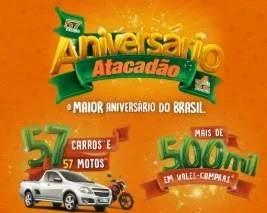 Cadastrar Promoção Atacadão 2019 Aniversário 57 Anos - 3 Milhões Prêmios