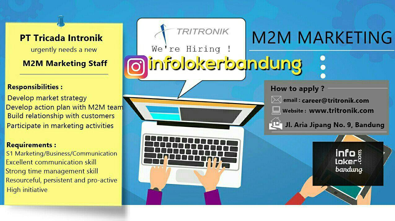 Lowongan Kerja M2M  Marketing PT. Trikada Intronik ( PT. Tritronik ) April 2017