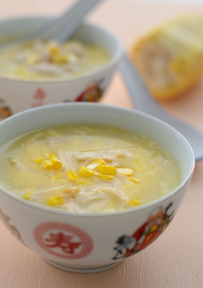 Authentic Chinese chicken and sweetcorn soup