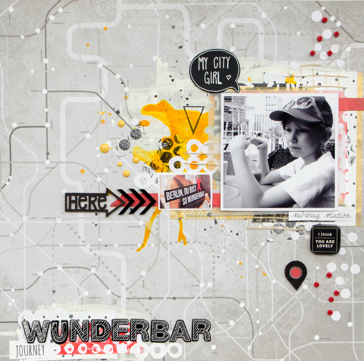 Scrapbooking layout using SODAsketch #7: Wunderbar