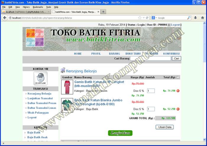 Contoh Soal Dan Materi Pelajaran 2 Contoh Skripsi Web E Commerce