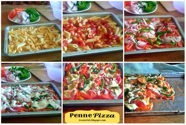 Penne Pizza Recipe @ treatntrick.blogspot.com