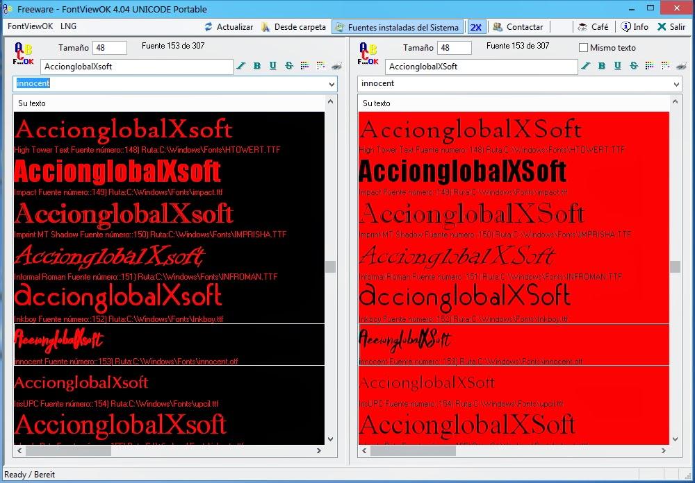 Visualizar y gestionar las fuentes instaladas en Windows