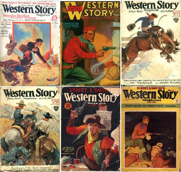 Cherry Wilson stories featured on the covers of Western Story Magazine