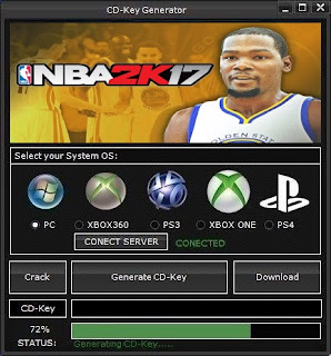 NBA 2K17 CD Key Generator (Free CD Key)