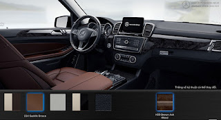 Nội thất Mercedes GLS 500 4MATIC 2016 màu Nâu Saddle 224