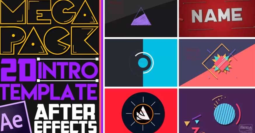 10 intros 2d para after effects gratis