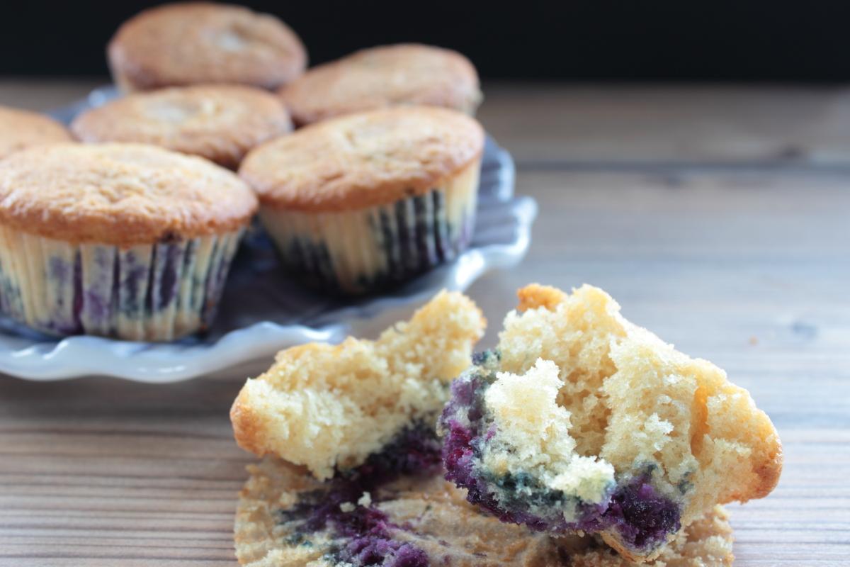 Muffins de arándanos (Hummingbird Bakery)