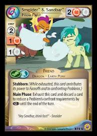 My Little Pony Smolder & Sandbar, Pillow Fight! Friends Forever CCG Card