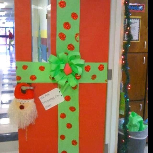 El Arte De Educar Ideas Para Decorar La Puerta Del Aula Para Navidades - Decoracion-para-puertas