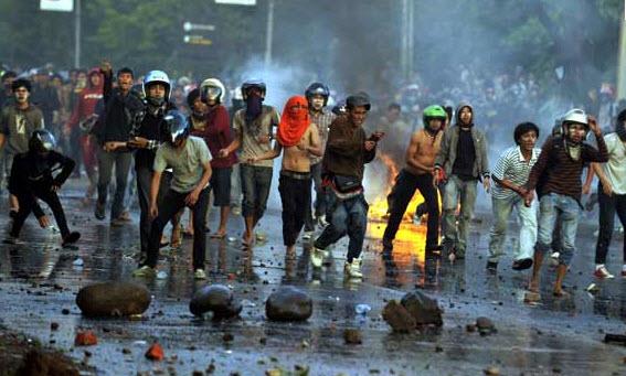 Aksi Demonstrasi Mahasiswa Makassar © Maskusdiono / Kompasiana