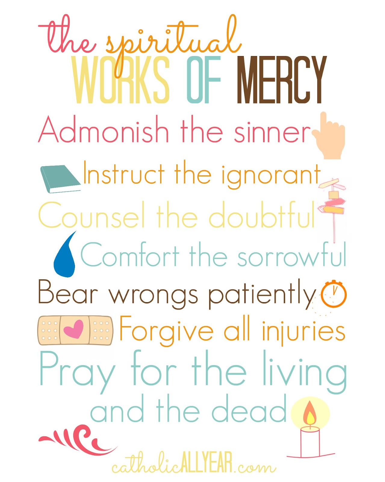 04 mar 2013 spiritual & corporal works of mercy |Spiritual Works Of Mercy Comfort The Sorrowful