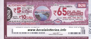 Kerala lottery result_Pournami_RN-290_04 June 2017