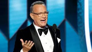 Tom Hanks se arrepia durante o discurso de Cecil B. DeMille