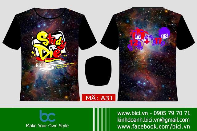 áo lớp galaxy 3D