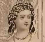 Velvet torsade, Godey's, 1861