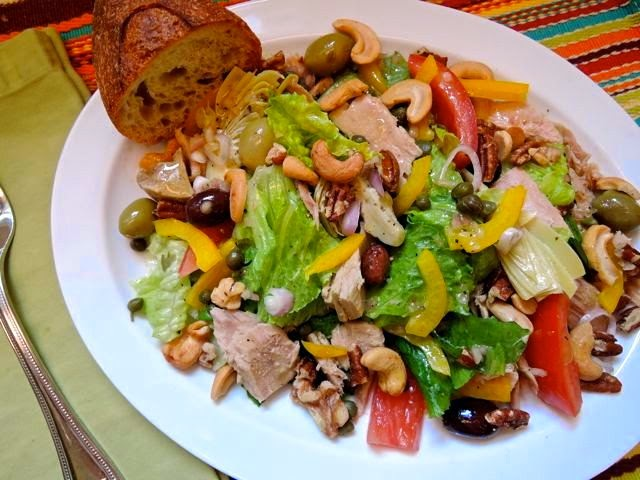The Briny Lemon: Mediterranean Salads With Tuna And