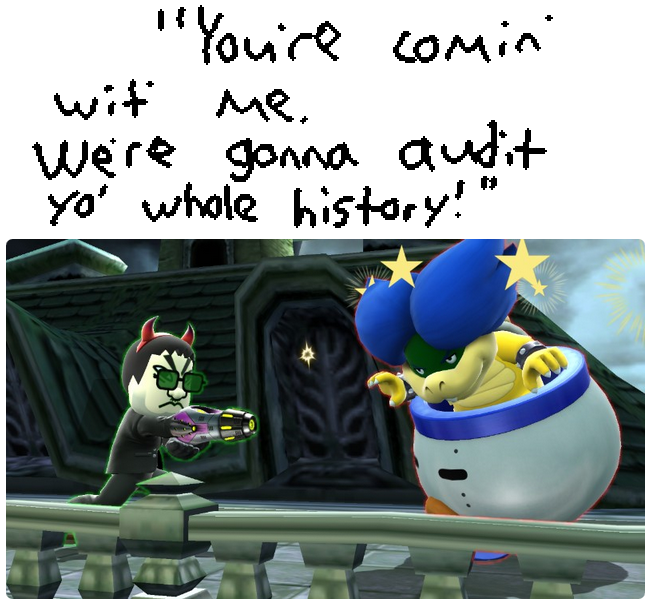 IRS Minion Ludwig Von Koopa Super Smash Bros. For Wii U screenshot agent photo Mii Gunner