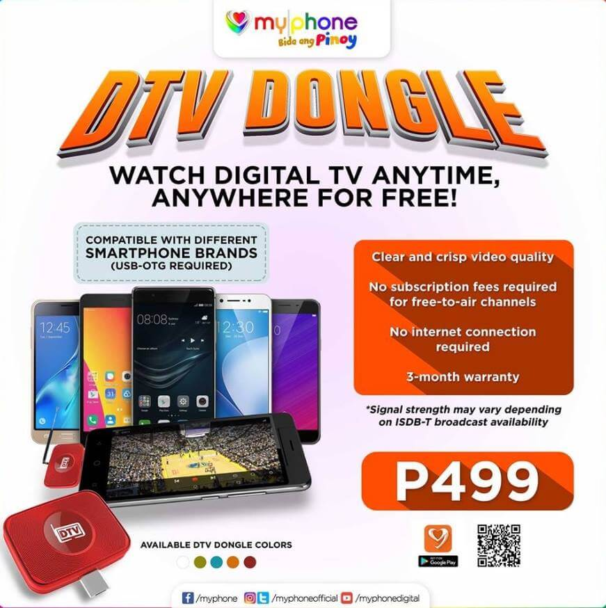 MyPhone DTV Dongle Now Available For Only Php 499; Transforms Smartphone Into A Digital TV