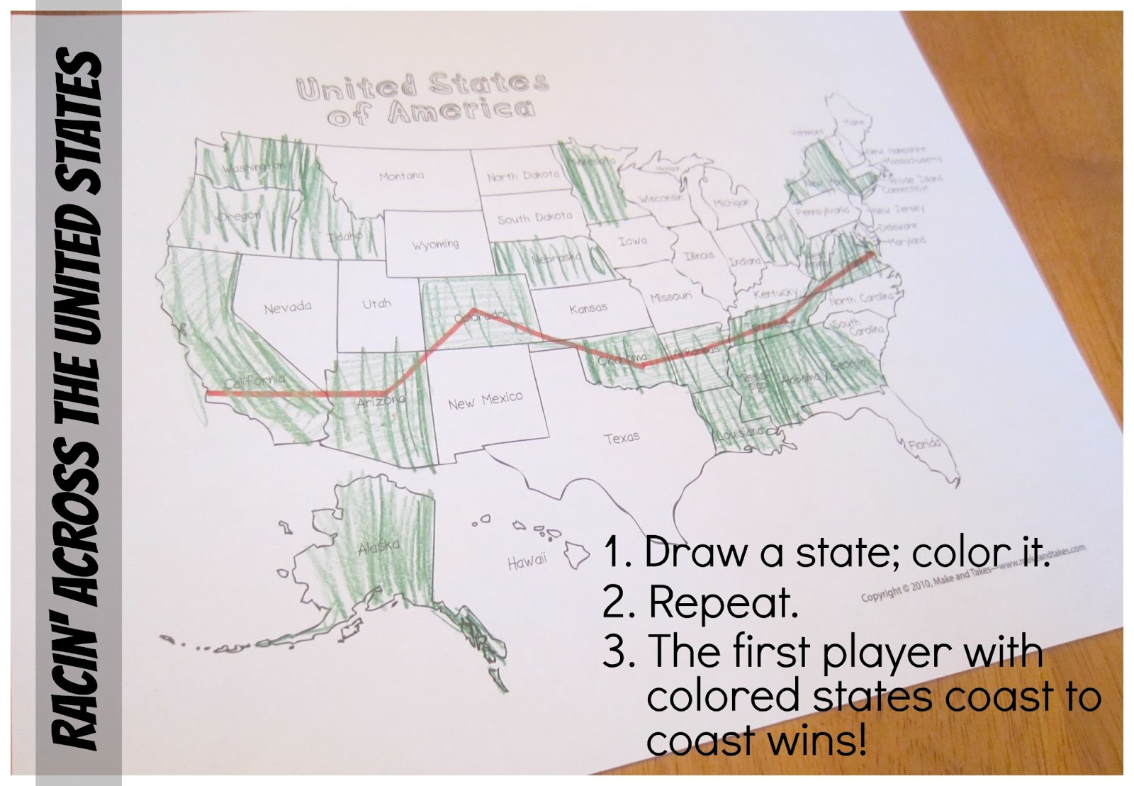 Relentlessly Fun Deceptively Educational Racin Across The United States A Geography Game