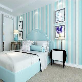 Contoh Gambar Wallpaper Dinding Rumah Minimalis untuk Kamar Tidur
