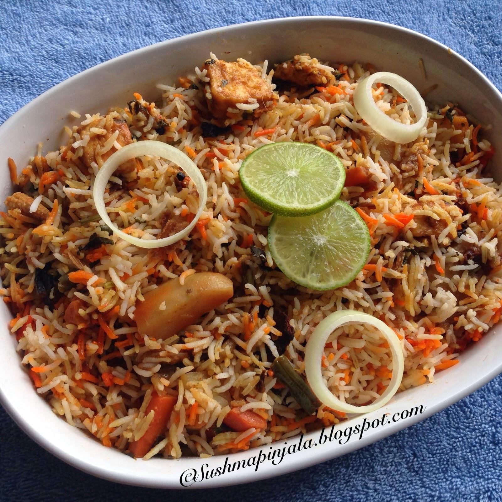 Vegetable Dum Biryani  ~ Hyderabadi Style
