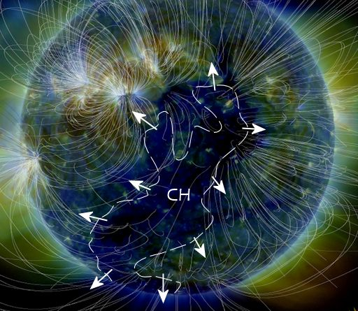 Massive quake: Volcano activity increasing - Coincidence or influenced by enormous Coronal Hole facing Earth?  Ch_strip