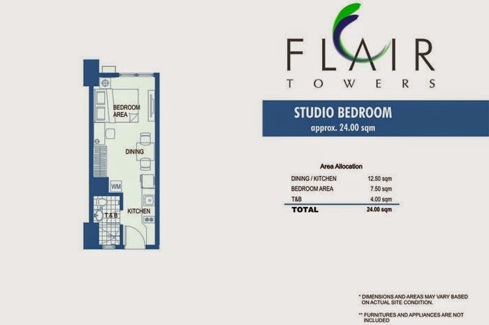 Flair Towers Studio Unit 24.00 sqm.