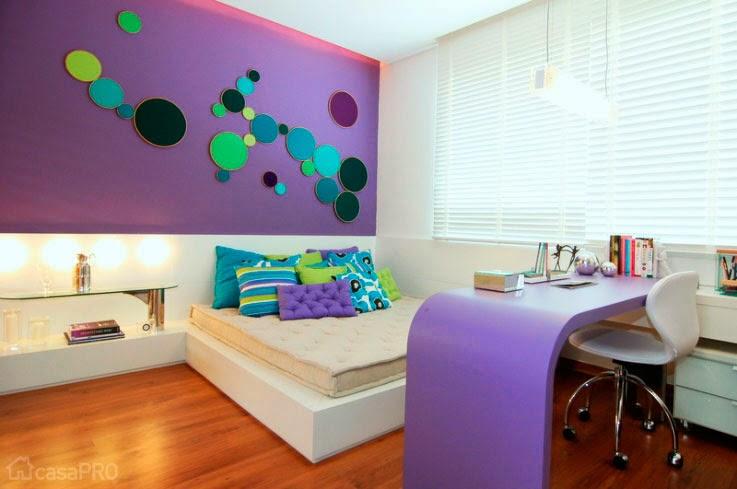Dise o de habitaciones juveniles y femeninas decoraci n for Disenos de paredes para dormitorios
