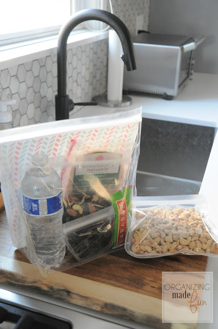 Large and small reusable baggies for lunch and snacks