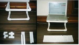 Cara membuat dudukan laptop dari paralon PVC