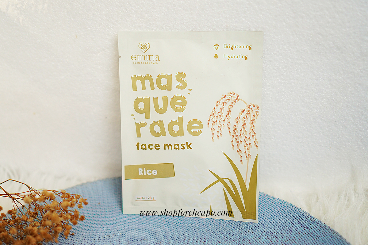 Review Emina Masquerade Sheet Mask (Rice & Sunflower)