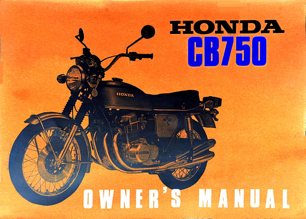 Honda CB750 - Owners Manual