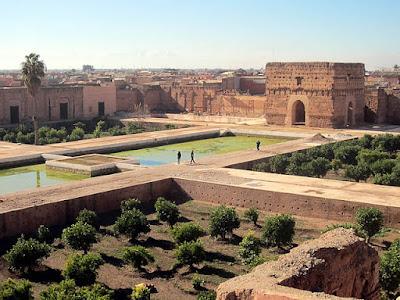 Reruntuhan El Badi Palace, Marrakesh