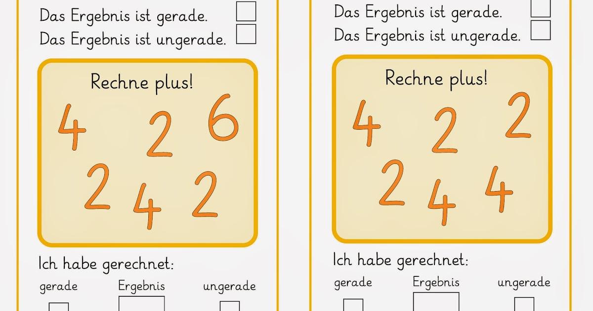 Lernstübchen: eine Denkaufgabe rund um die geraden und ungeraden Zahlen