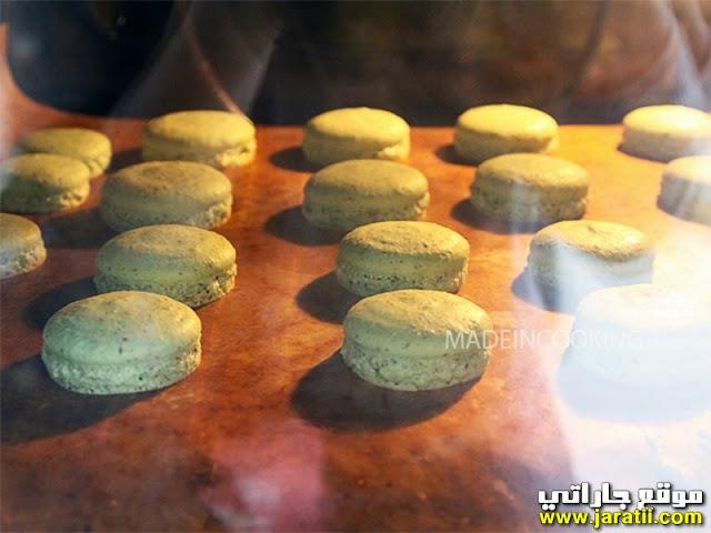 حلوى الماكارون بالفراولة