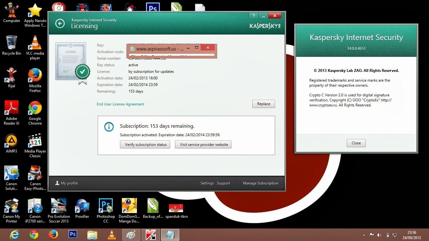 Kaspersky Internet Security 2014 Full Serial Key - RGhost