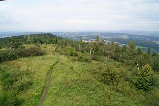 Blick vom Eggeturm in die weite Landschaft des Teutoburger Wald