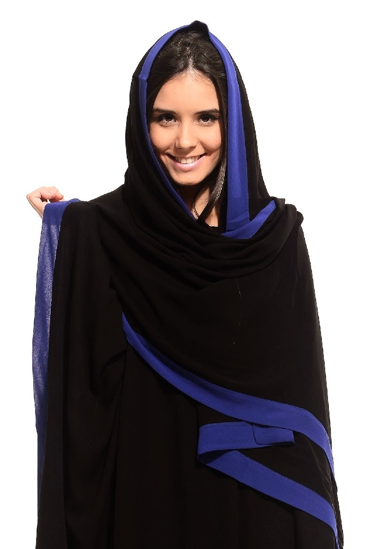 colored abaya collection 20142015 arzu ergen black