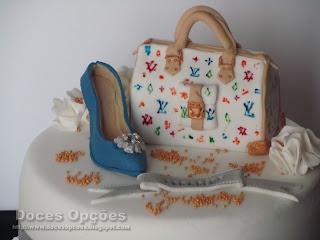 bolo sapatos mala Louis Vuitton